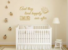 "Kids Wall Quote - ""And They All Lived Happily .."" Wall Art Sticker, Decal, Vinyl"